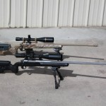 338 Lapua in front; 308 Winchester in back